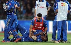 With Kieron Pollard out injured, Mumbai have more problems
