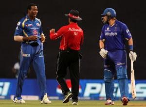 IPL 2013: Pollard-Watson spat sours Mumbai Indians' victory over Rajasthan Royals