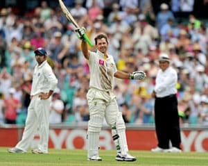 Ponting scores first Test ton in two years