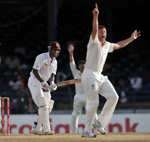 2nd Test: Australia in control as West Indies top order fails