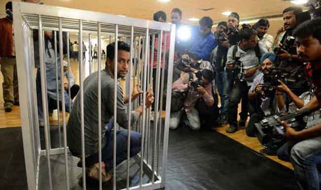 Pragyan Ojha in PETA Ad as Caged Tiger