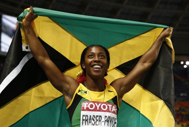 Shelly-Ann Fraser-Pryce completes double in Allyson Felix woe at world athletics