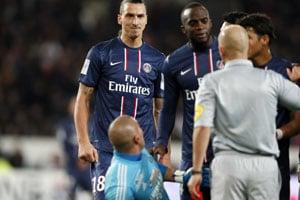Saint-Etienne shock Paris Saint Germain, as Zlatan Ibrahimovic sees red