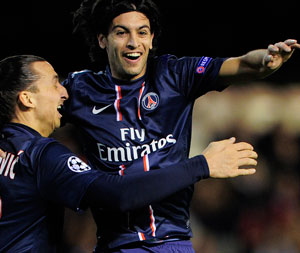 PSG beat Valencia 2-1 in Champions League last-16 first-leg