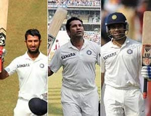 To Sachin Sir with love, from Rohit and Pujara