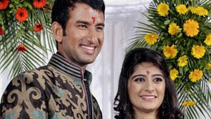 Cheteshwar Pujara ties the wedding knot in a private function