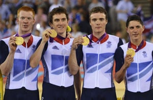 London 2012: Britain defend Olympic pursuit crown, smash record