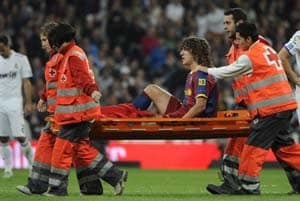 Puyol sidelined for up to three months