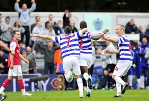 QPR stun Arsenal to a 2-1 defeat