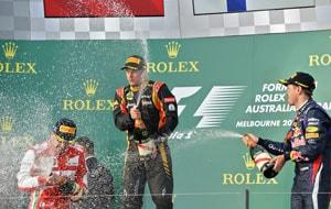Kimi Raikkonen upstages big rivals to win Australian GP