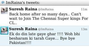 Twitter trouble: Suresh Raina blames nephew for offensive tweet