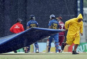 Tri-series: West Indies vs Sri Lanka - Rain postpones match to Monday, highlights