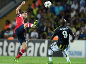 Aaron Ramsey takes Arsenal on brink of Champions League