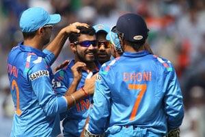 1st ODI Live Cricket Score: Yuvraj Singh, Ravindra Jadeja, MS Dhoni and Rohit Sharma