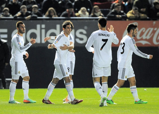 Real Madrid cruise past Osasuna into Spanish Cup quarters