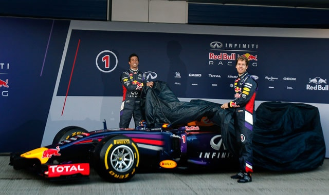 Sebastian Vettel, Daniel Ricciardo unveil 2014 Red Bull car