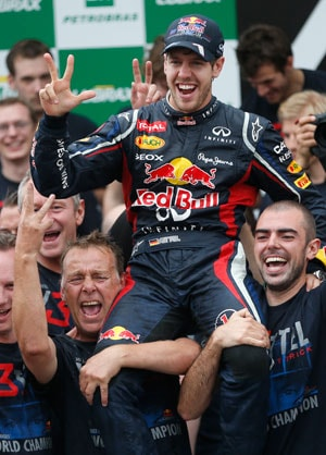 Sebastian Vettel silences critics as Formula One world title beckons