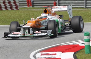 Mixed practice session for Force India in Sepang