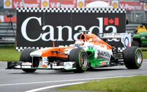 F1: Force India celebrates 100th GP with double-score