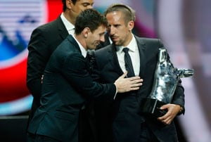 Franck Ribery named European player of the season ahead of Lionel Messi, Cristiano Ronaldo