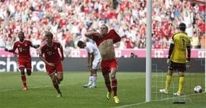 Bundesliga: Ribery, Robben score as Bayern Munich beat Nuremberg 2-0
