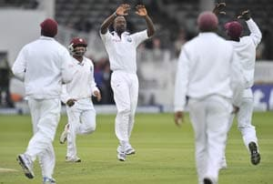 Roach's strike gives West Indies slight hope against England
