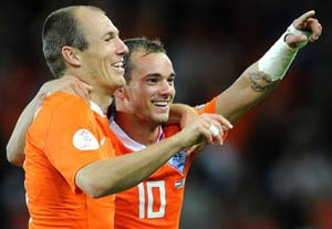Sneijder, Robben, Van der Vaart omitted from Dutch squad for Italy friendly