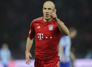 Arjen Robben relaxed as Mario Goetze set for Bayern Munich debut