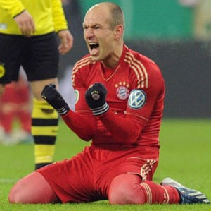 German Cup: Arjen Robben strike helps Bayern dump Dortmund out