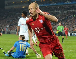 UEFA Champions League: Gomez, Robben sink troubled Marseille