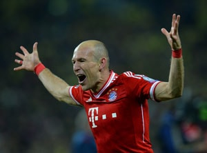 Arjen Robben's late goal wins FC Bayern Munich the UEFA Champions League