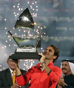 Roger Federer wins 6th Dubai Championships title