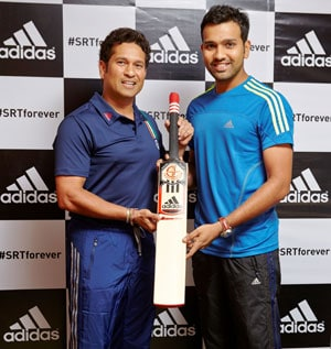 Sachin Tendulkar welcomes Rohit Sharma in adidas family