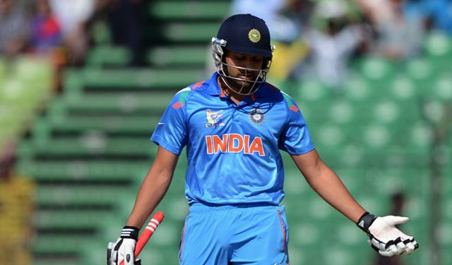 Live cricket score: Rohit Sharma