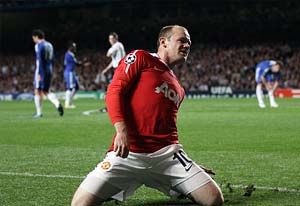 Wayne Rooney sidelined with hamstring injury