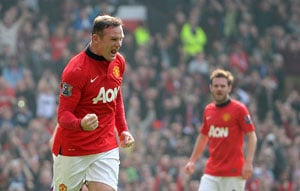 EPL: Wayne Rooney scores twice in Manchester United's 4-1 win over Aston Villa