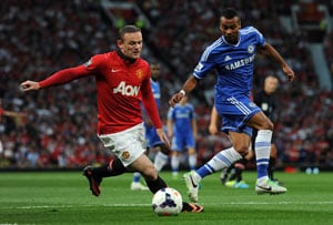 Wayne Rooney tries in vain as Manchester United, Chelsea FC draw