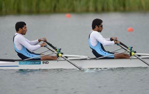 London 2012 Rowing: Sandeep Kumar, Manjeet Singh finish second last