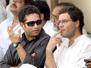 In the hood: Sachin Tendulkar's Delhi home next to Rahul Gandhi