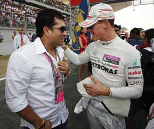 Bahrain honoured to have Sachin Tendulkar for Formula One night race