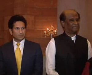 Floored by Rajinikanth's humility, says Sachin Tendulkar