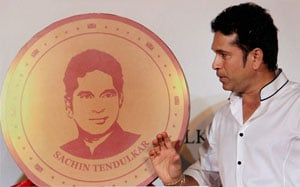Sachin Tendulkar launches 10 gram gold coin with his image embossed