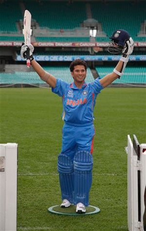 Wax figure of Sachin Tendulkar unveiled at SCG