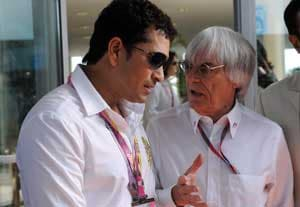 Tendulkar meets Schumacher and Ecclestone at Indian Grand Prix