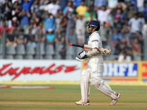 Sachin Tendulkar's dismissal for a low score leaves fans disappointed