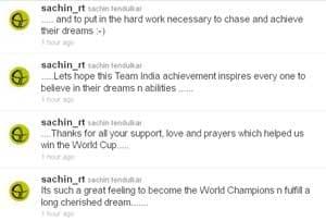 Pursue dreams with hard work: Tweets Sachin