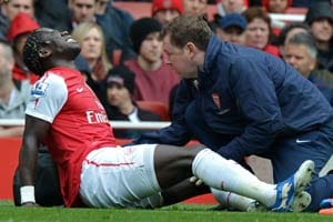 Arsenal lose Bacary Sagna for three weeks