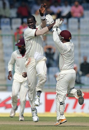 West Indies get the better of 17-wicket day