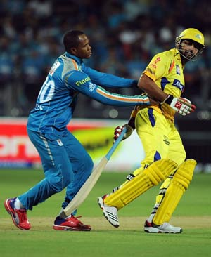 Pune Warriors' Samuels reported for suspect action