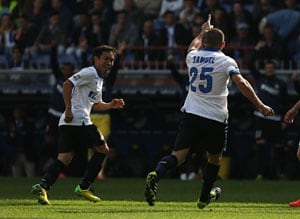 Serie A: Inter Milan beat 10-man Sampdoria 4-0